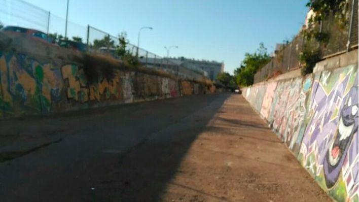 Emaya retira la basura acumulada en el torrent de Na Barbarà