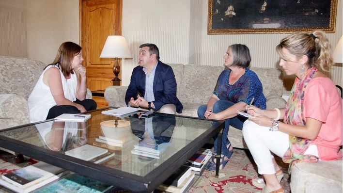 Armengol ha recibido al alcalde, a la primera Teniente y a la regidora de Economía