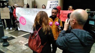 Trabajadores de IB3 protestan en Palma
