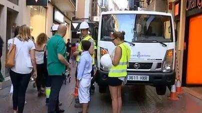 Operarios municipales actuaban este sábado en la zona