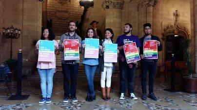 Presentación de la campaña LGTBI en Cort.