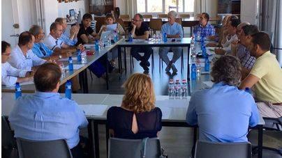 Reunión de la Junta Directiva de la Asociación de Clubes Náuticos de Baleares.