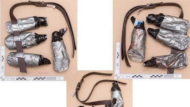 Las bombas estaban fabricadas con botellas de agua y cinta aislante