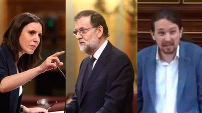 Podemos dice que la corrupción vive en Génova 13 y Rajoy contesta que solo buscan espectáculo