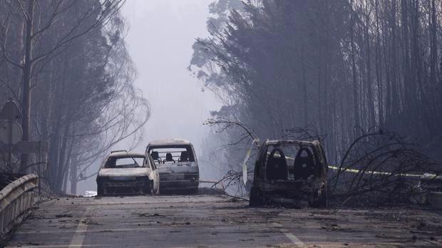 Dan por controlado el gran incendio de Portugal
