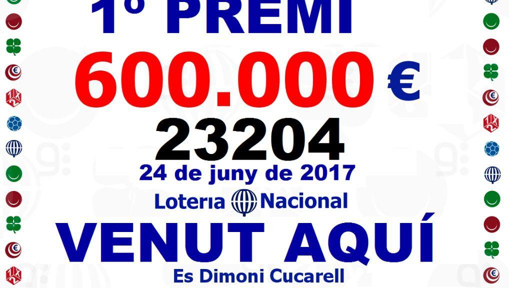 El primer premio de la Lotería Nacional cae en Muro