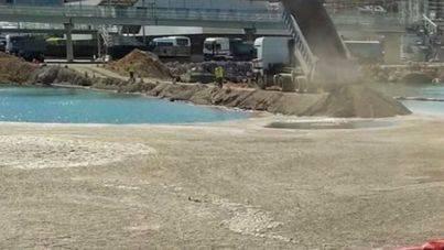 El GOB exige paralizar el vertido al mar de las escorias de las obras en el Puerto Palma