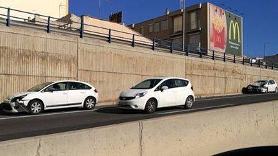 Un accidente leve provoca 9 kilómetros de atasco en la Via de Cintura y la autopista de Inca