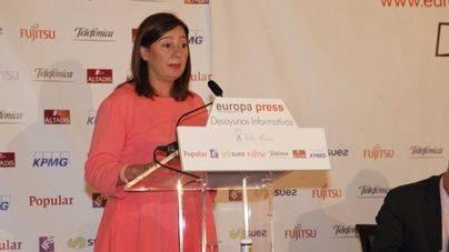 Armengol pide en Madrid la condonación de la deuda de Balears