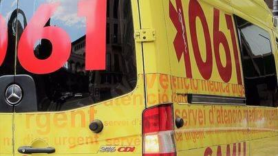 Cuatro heridos en un accidente de tráfico en la carretera de Inca