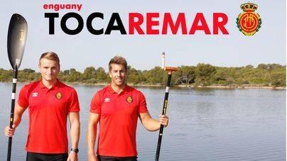 Sete Benavides y Marcos Cooper en la campaña de socios del Mallorca