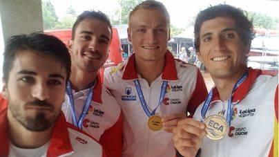 Marcus Cooper se cuelga el Oro en el Europeo en la categoría de K4 1000