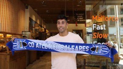 El Átletico de Baleares presenta el fichaje del delantero Gerard Oliva