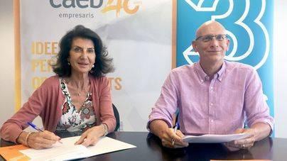 Carmen Planas y Alfons Suárez suscriben el acuerdo marco de colaboración entre ambas entidades