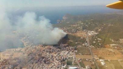 Controlado el incendio de sa Talaia de Sant Antoni
