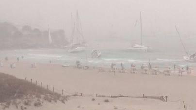 Veleros embarrancados en Formentera