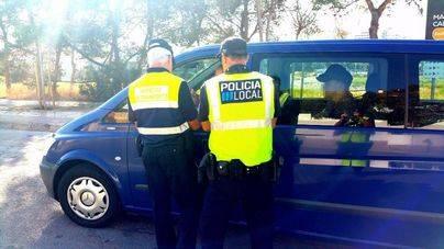 Imagen difundida por el yuntamiento de Calvià de taxi pirata