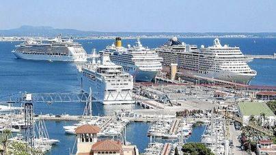 Balears recibe 755.000 cruceristas en el primer semestre del año, un 3,45 por ciento más