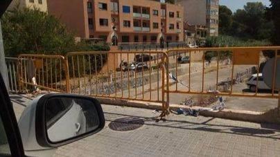Inseguridad en Platja de Palma: 55 días sin barandilla en el Pont dels Jueus en s'Arenal