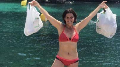 El día más ecológico de Samantha Vallejo-Nágera en la costa de Menorca