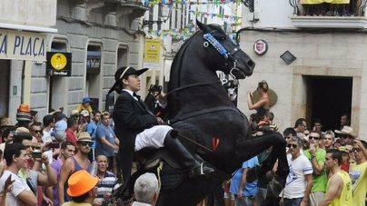Piden que se supriman los caballos en las fiestas de Menorca