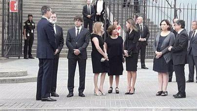 Funeral en la Sagrada Familia en memoria de las víctimas de los atentados