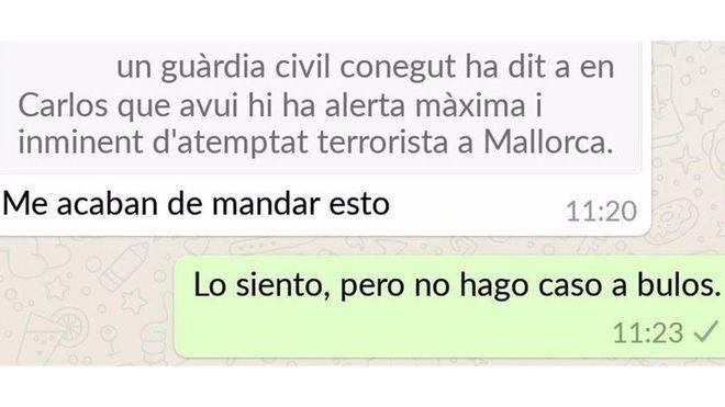 La Guardia Civil desmiente el bulo de un atentado en Mallorca