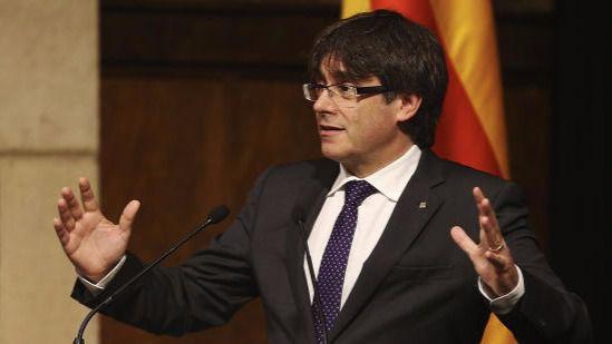 Puigdemont cree que el Estado catalán debe tener Ejército