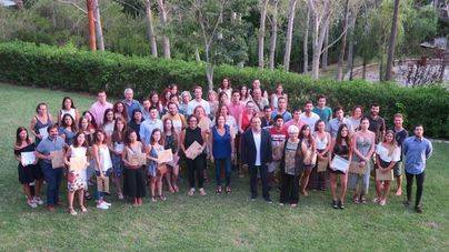Clausura de las becas de Calvià de prácticas para 45 estudiantes
