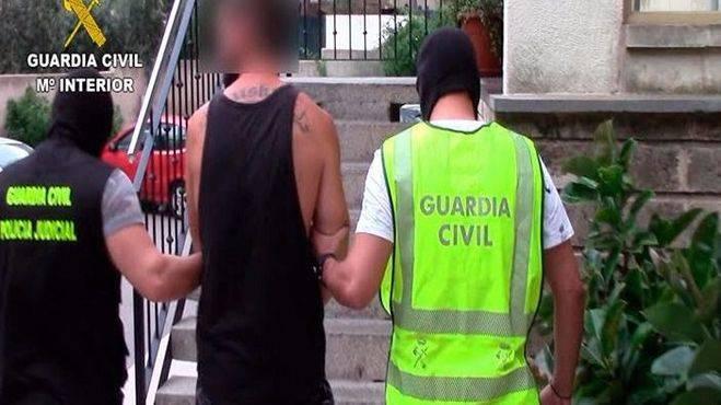 Imagen de uno de los detenidos por la Guardia Civil