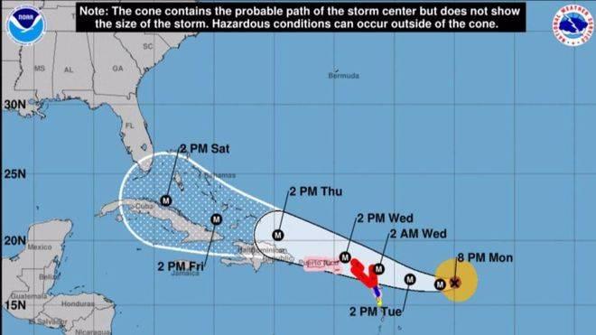 El huracán Irma amenaza Puerto Rico, Bahamas y Florida