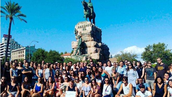 Cort se lleva de yinkana y ruta martiana a los estudiantes Erasmus