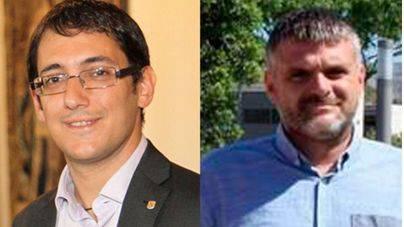 El conseller de Treball  y el gerente de la Fundació BIT
