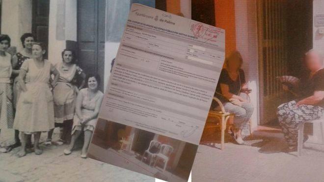 Imagen de 1960, solicitud entrada a registro y dos de las afectadas