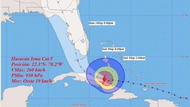 El hurac n 39 irma 39 recobra fuerza a su paso por el centro for Cuba motors el paso