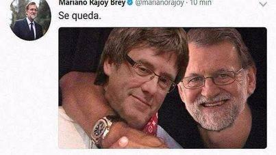 Rajoy intenta convencer a Puigdemont emulando a Piqué