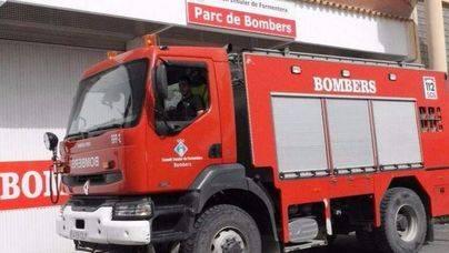 El fuego calcina una casa de 60 m2 en Formentera