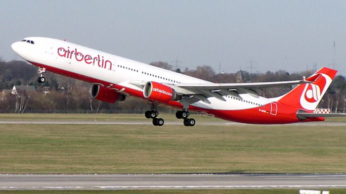 Un inversor aeronáutico alemán presenta una oferta de 500 millones de euros para adquirir Air Berlin