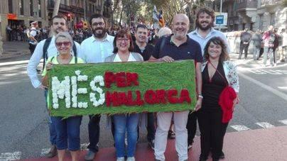 """Més per Mallorca se va """"de expedición"""" a la """"Diada del sí"""" de Barcelona"""