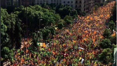 Un millón de personas celebra la Diada de la independencia