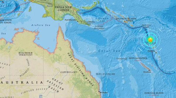 Un terremoto de magnitud 5,2 sacude Vanuatu, en el Pacífico Sur
