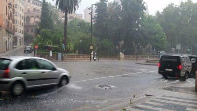 113 incidentes registrados en Mallorca y uno en Menorca por las lluvias