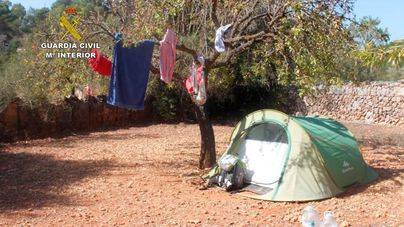 Camping ilegal de Algaida en el que se pagaban hasta 40 euros por persona y día