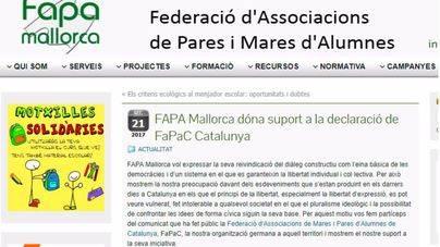 Foro de la Familia critica que la FAPA actúe