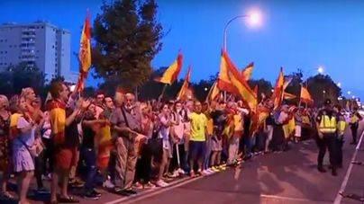 Palma: Más de 200 personas se manifiestan a favor de las fuerzas de seguridad y la unidad de España