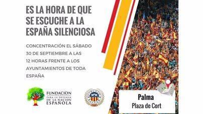 Convocan una concentración en Palma contra el referéndum de Cataluña