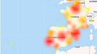 Facebook sufre problemas en España y Francia