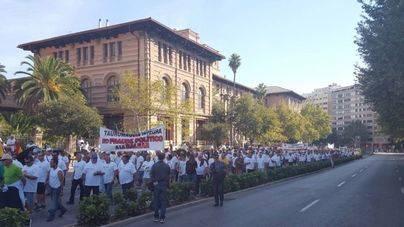 Diferentes colectivos se han dado cita para protestar