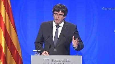 Puigdemont pide mediación europea y la retirada de la Policía y Guardia Civil