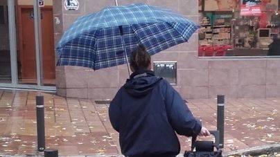 Lluvia y viento en Mallorca este viernes
